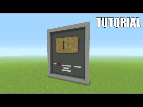 Minecraft Tutorial: How To Make A YouTube Gold Playbutton!!