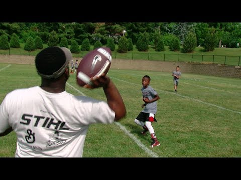 Youth foundation hosts football and cheer camp at Princeton HS