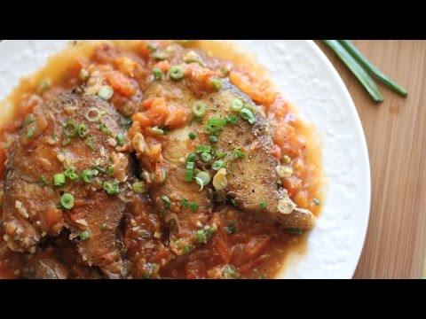 Ca Thu Sot Ca (King Mackerel Steak with Tomato Sauce) Fried Fish Recipe