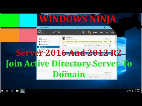 Server 2016 And 2012 R2 - Join Active Directory Server To Domain