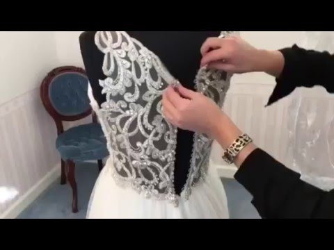 How To - Button Bridal Dress Buttons