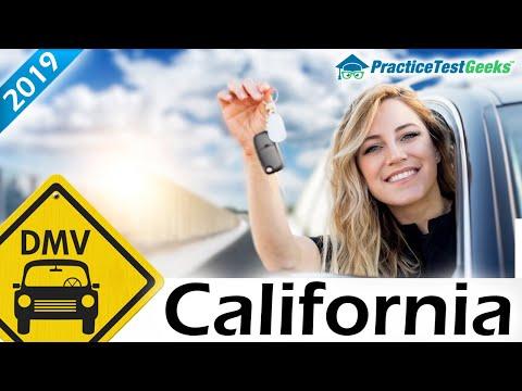California CA DMV Driving Practice Test 2019