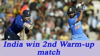India beat England in 2nd warm up match by 6 wickets, Rahane and Pant shine | Oneindia News