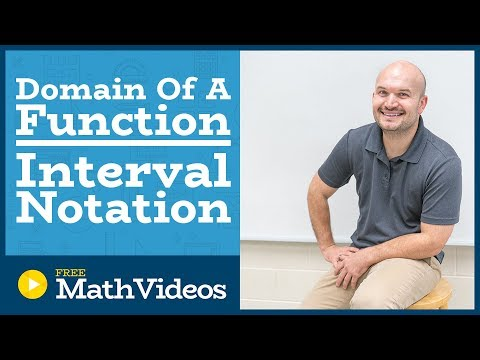 Master Determining the domain of a function using interval notation
