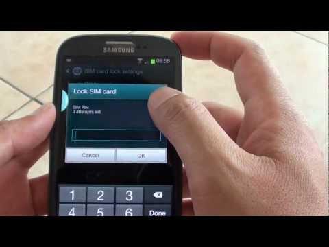 Samsung Galaxy S3: How to Change SIM Lock PIN