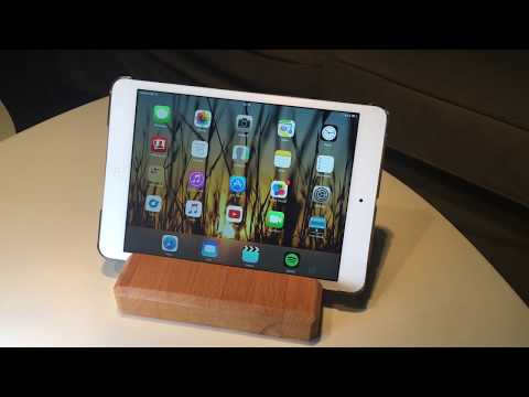 How to make a simple DIY wooden two-way iPad tablet stand from scrap wood (first ever video)