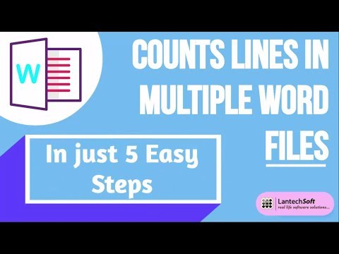 Counts Lines in Multiple Word Files In Just 5 Easy Steps