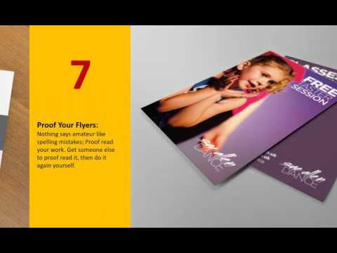 10 Secrets to make printed flyers