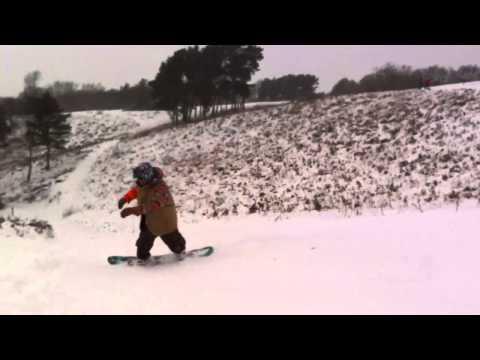 Snowboarding at Clent Hills 2013