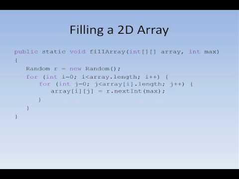 Java #13 - 2D arrays