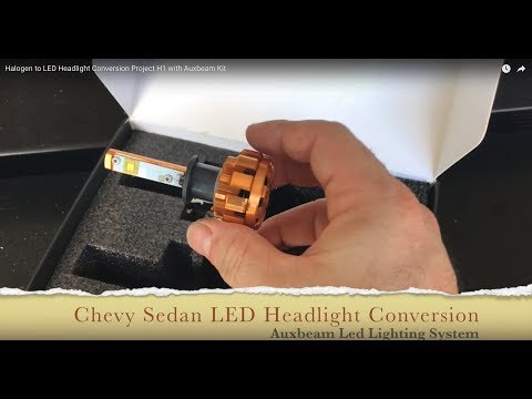 Halogen H1 to LED conversion with the Auxbeam LED Headlight Kit
