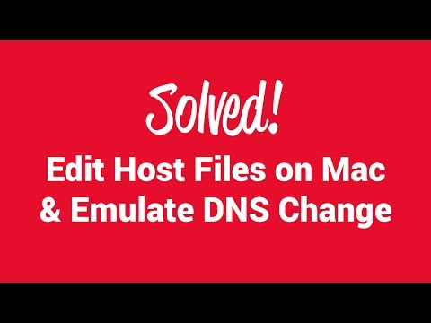 SOLVED! How to edit hosts file on MAC and emulate DNS change