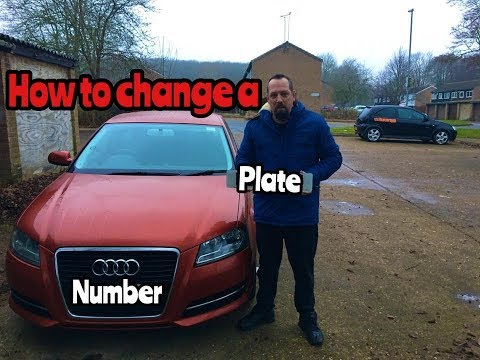 How to Change a Car Number Plate