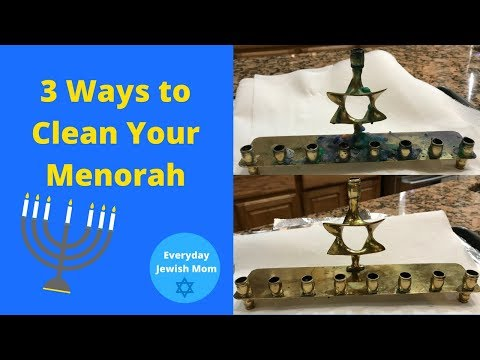 3 Ways To Clean Your Menorah / Cleaning Wax Off Candlesticks / Cleaning Hacks / Remove Wax