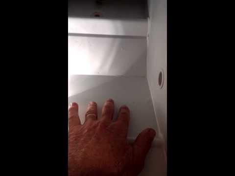 DIY - GE Hotpoint refrigerator drain plug frozen