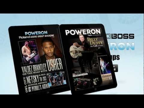 Roland & BOSS PowerOn Magazine for iPad