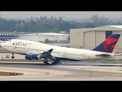 {TrueSound}™ Delta Air Lines Boeing 747-400 Smooth Landing at Ft. Lauderdale