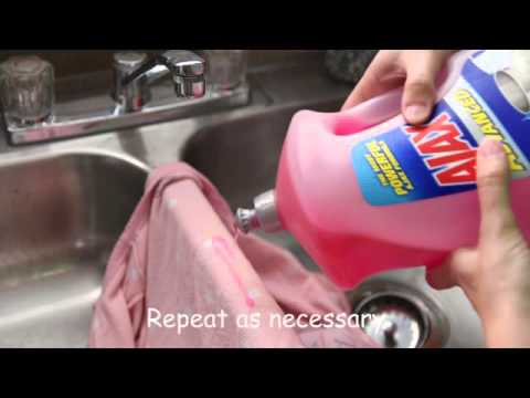 How to remove poop stains with dishsoap