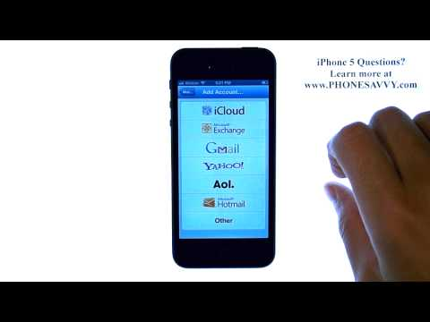 Apple iPhone 5 - iOS 6 - How do I Setup Email or Add Additional Email Accounts