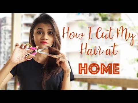 HOW I CUT MY HAIR AT HOME IN DEEP LAYERS!│Long Layered Haircut DIY at Home│Shreeja Bagwe
