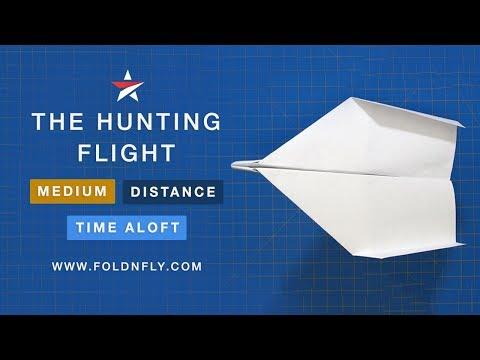 ✈ Hunting Flight Paper Airplane - Throw It Hard and Watch It Go Far! - Fold 'N Fly