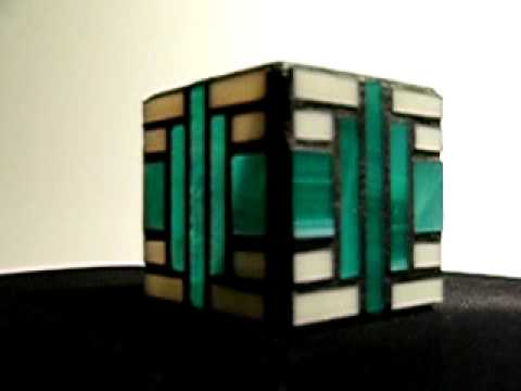 Small Teal Art Deco Candle Holder