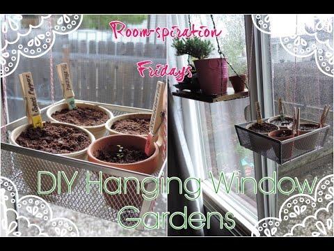 DIY Hanging Window Gardens