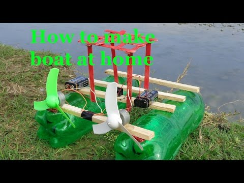 how to make boat at home easy