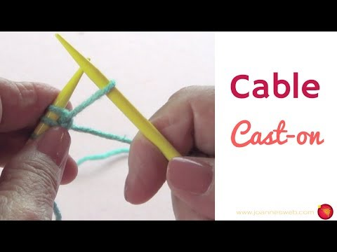 Cable Cast On - Mounting Stitches Knitting - How To Start Knitting