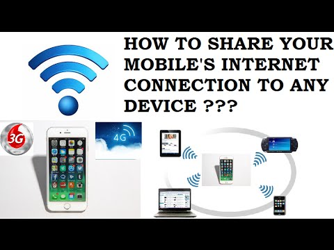 HOW TO SHARE MOBILE'S ( 3G / 4G ) INTERNET CONNECTION WITH ANY DEVICE