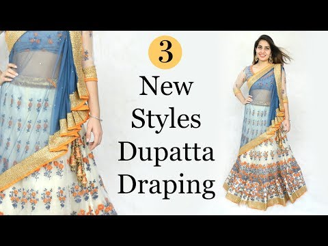 3 New Styles Of Dupatta Draping - How To Wear Lehenga Perfectly | Anaysa