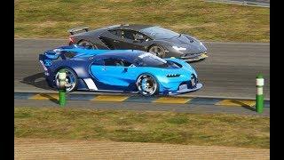 Battle II Bugatti Vision GT vs Supercars at Circuit de La Sarthe