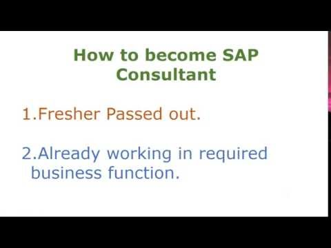 How To Become SAP Consultant