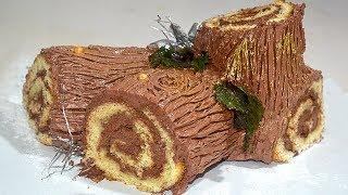#x202b;كيك جدع الشجرة بمكونات جدا بسيطة ناجح 100% لذييذ /سويسرول كيك رولي#x202c;lrm;