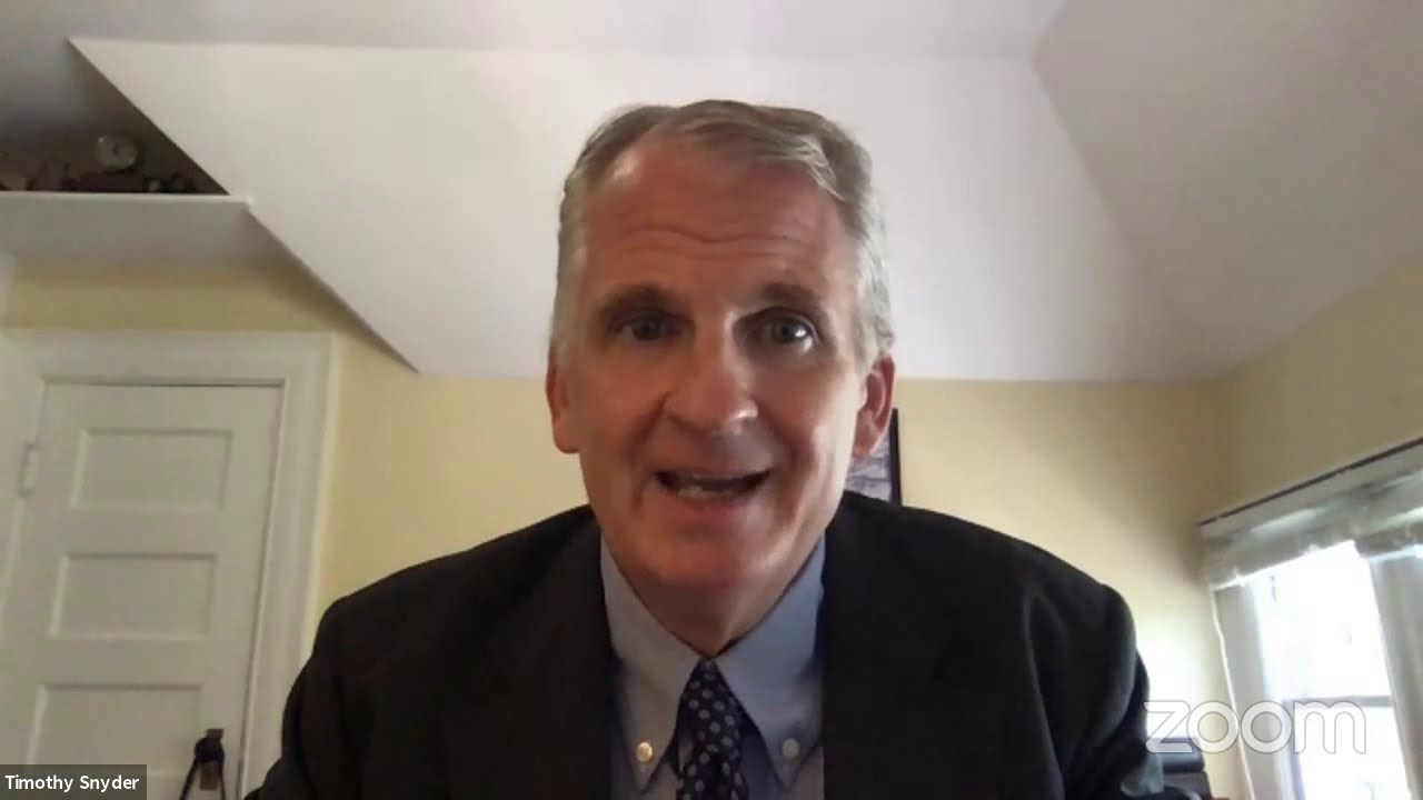 """Professor Timothy Snyder lecture — """"What past catastrophe teaches us about future possibility"""""""