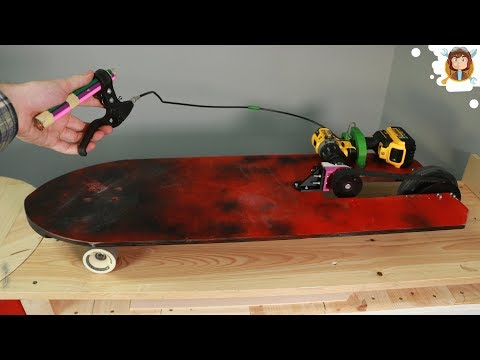 DIY Electric Skateboard With a Drill - 3D Printer - (GIANTARM D200)