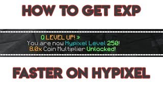 How to get EXP FAST on Hypixel! | Network Level Tips