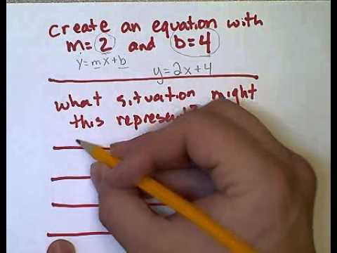 Word Problems and Slope-Intercept