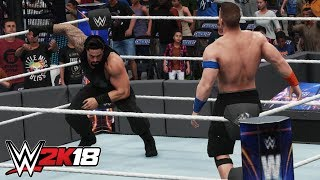 WWE 2K18 Roman Reigns Gameplay - NEW Spear With Pin Combo, NEW Comeback, Signature Moves & More!