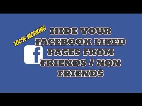 How to hide your Facebook liked Pagesfrom Others. Facebook me kaise liked pages ko dusron se chupaye