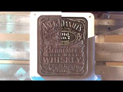 Custom Made Jack Daniels Label Wood SIgn cnc machine