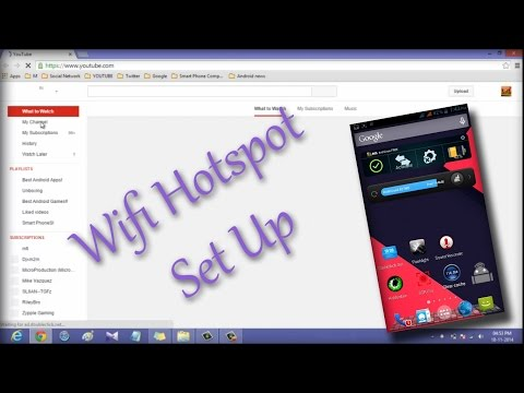 INTERNET SHARING USING WIFI HOTSPOT ANDROID DEVICE TO LAP OR PC!