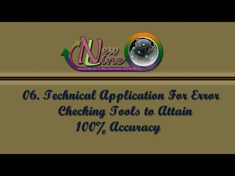 06  Technical Application For Error Checking Tools to Attain 100 percent Accuracy