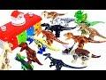 Learn Colors & Dinosaur names with Jurassic world lego dinosaur's head toy 쥬라기월드 공룡 장난감