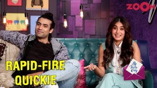 Jubin Nautiyal and Kritika Kamra answer rapid-fire questions on the segment Quickie