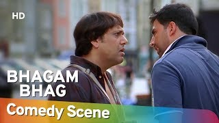 Bhagam Bhag (2006) - Akshay Kumar - Govinda - Superhit Comedy Scene - Sheamroo Comedy
