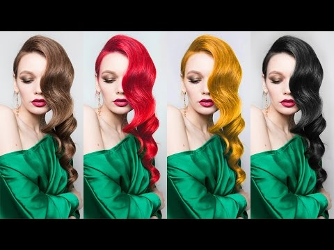 Change Hair Color to Black/Gold/Brown/Red - Photoshop Tutorial [Photoshopdesire.com]