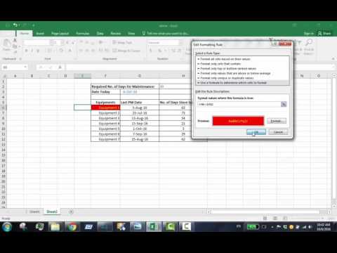 How to change MS Excel cell color automatically by using formula hd