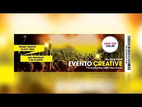 Event Ticket Design- Photoshop Tutorial