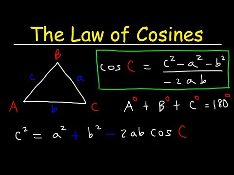 Law of Cosines, Finding Angles & Sides, SSS & SAS Triangles - Trigonometry